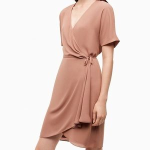 New Aritzia BABATON Wallace Dress in Nutmeg RARE